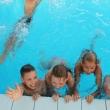Купание детей в бассейне ДОЛ Электрон Сукко