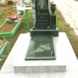 Памятник с декоративной гравировкой на 2-х ярусной площадке