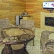 Комната отдыха с электрокамином и Триколор ТВ в банном комплексе Царь-Баня