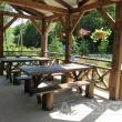 Веранда для отдыха и чаепития на пасеке