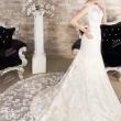 Длинное свадебное платье с поясом