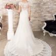 Вышитое свадебное платье в пол